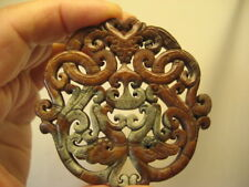 INTRICATE HAND CARVED STONE/AGATE/JADE? PENDANT GORGEOUS MUST SEE FREE SHIPPING