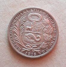 Moneta da 1 sol in argento  Perù 1915 spl