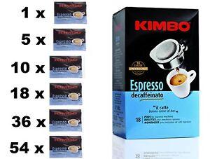Kimbo ESE Espresso Decaffeinato Coffee Pods Single Serving Paper Pods Decaf