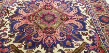 Beautiful Late 1940's Wool Pile,Natural Dye Hand-knotted Armenian Rug 5x7ft