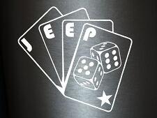 1 x 2 Plott pegatinas jeep poker tarjetas sticker tuning decal nuevo cards EE. UU. OEM