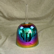Seven Color Crystal Singing Bowl With Handle Note G 5.5""