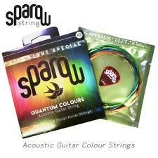 1 SET 6 pcs Quantum Colours Acoustic Guitar String Sparow Free 1 pick 10 - 48