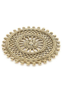 Trivet Polished Brass Shaped Radially