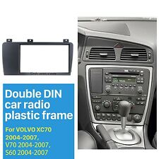 Car Radio Fascia Panel Adapter Install for VOLVO S60 05-10; V70, XC70 05-07 2DIN