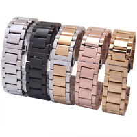 Stainless Steel Solid Link Watch Band Strap Bracelet Cool End 18/20/22/24MM Gift