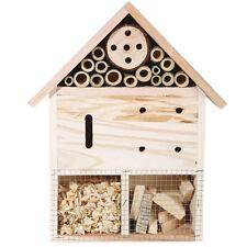 Hölzernes Insekt Hotel Bug GARTEN HEIM Biene hält Inkubator Nest Haus Wandbehang