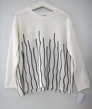Julia LAGENLOOK Pullover EG 44 46 48 schwarz-weiß Musterstrick NEU