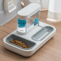 Automatic Pet Feeder Small Cat Dog Water Dispenser NoSpill Puppy Drink Food Bowl