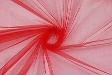Tulle rosso con brillantini STOFFA AL METRO TESSUTO A METRAGGIO