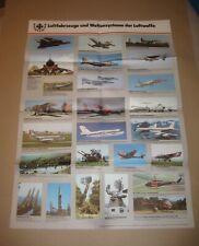 KEIN Patch / Aufnäher - Typenposter der Bundeswehr - LUFTWAFFE - 1980er Jahre -