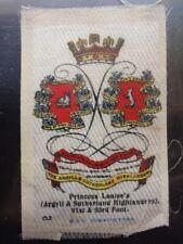 No.82 PR. LOUISE'S ARGYLL & SUTHERLAND HIGHLANDER Godfrey Phillips BDV Silk 1914
