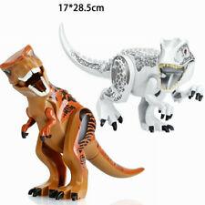 2Pcs Large Dinosaur Figure Big Size Indominus T Rex Blocks Fit Lego Toys Gift