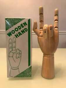 Wooden Left Hand Model Sketching Drawing Jointed Movable Fingers Mannequin