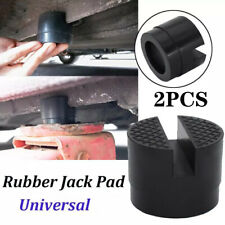 New Listing2pcs Universal Car Suv Slotted Frame Rail Hydraulic Floor Jack Disk Rubber Pad