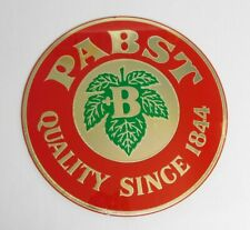 """Vintage Classic """" Pabst Quality Since 1844 """" Round 16 Inch Plexiglass Sign"""