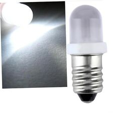E10 LED Screw Base Indicator Bulb Cold White 6V DC Illumination Lamp Light CC