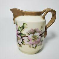 Antique CH Field Haviland CFH GDM Limoges Flower Creamer Signed 1888 Exquisite