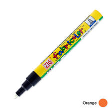 Zig Fabricolor Fabric Marker - 2mm - Orange (Pack of 12)
