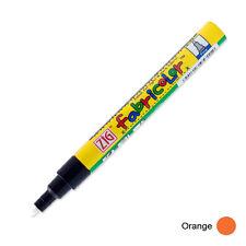 Zig Fabricolor Fabric Marker - 2mm - Orange (Pack of 12)