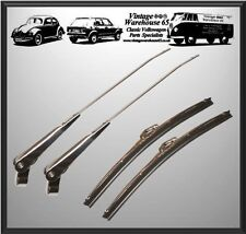 "Vintage & Classic Car 11"" Stainless Steel Wiper Blades & Wiper Arm Set"