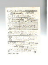 1944 Theresienstadt Concentration Camp Ghetto Money Order receipt to prisoner