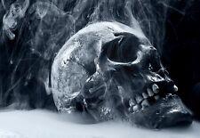 Arte cartel fumar cráneo Goth tema de impresión