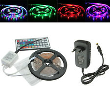 Tira Luz 5M 3528 RGB 300 LED Multicolor Flexible 44 IR Remote + 12V 2A Adapter