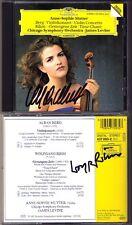 Anne-Sophie MUTTER & Wolfgang RIHM Signd Gesungene Zeit BERG Concerto LEVINE CD