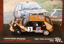 LANCIA DELTA INTEGRALE #3 LOUBET ANDRIE RALLY VINHO DA MADEIRA 1989 IXO 1/43