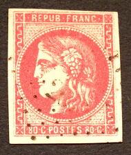france, n°49, 80c rose vif TB nuance oblitération légère cote 450e signe Calves