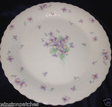 "MIKASA JAPAN A7057 BLUE VIOLETS DINNER PLATE 10 1/2"" VIOLETS ON WHITE"