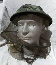 USAF USN USMC Pilot's Survival Gear Insect Mosquito Net Headnet , Excellent!!