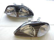 DHL -  Headlights CTR Si Honda Civic Type R Style EK9 EK4 EM1 JDM 96-98 - black