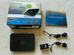 Ooma Telo VoIP Base Station TELO102 110-0110-251 with OEM AC Adapter