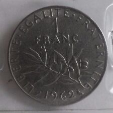 1 franc semeuse 1962 : TB : pièce de monnaie française
