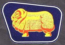GOLDEN FLEECE RAM VINYL Sticker Decal Garage Service GAS Station Petrol Retro