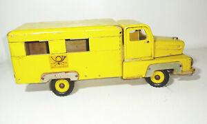DDR Holzauto Post Ifa Laster Lkw Postauto Vintage Deko Spielzeug !