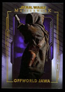 Offworld Jawa #19 Topps 2020 Star Wars Masterwork Purple Parallel Card 37/50