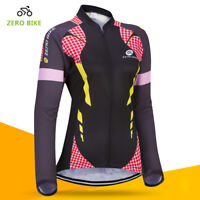 Womens Cycling Clothing Bicycle Jersey Sportswear Long Sleeve Mtb Bike Top Shirt