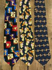 "Lot of 3 Vintage ""Tigger"" Character Neckties Ties all 100% Silk"