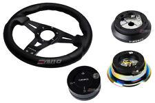 NRG 320 Sniper Steering Wheel Carbon Fiber/100 Hub/2.8 BKMC Release/Lock Matt