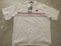 Tampa Bay Buccaneers Dress Polo Shirt Reebok NFL Full Button Up Embroidered NFL