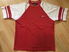 RIP CURL - T-shirt blanc/rouge corail - M - Etat neuf!!