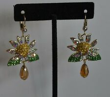 KIRKS FOLLY  DAISY DAYS  EARRINGS IN GOLD TONE