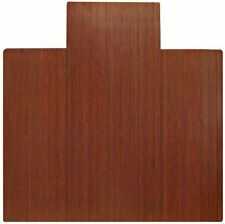 Anji Mountain AMB24009 Dark Cherry Bamboo Roll-up & Hardwood Office Chair Mat 55 X 47