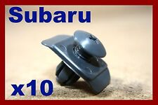 10 SUBARU bumper fender fascia panel plastic screws fasteners pin clips 10mm