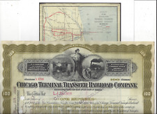 Stk Chicago Terminal Transfer RR 1895 100 share Preferred  Oilve  See GREAT info