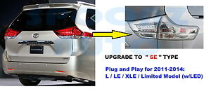2011-2014 TOYOTA SIENNA LE XLE LIMITED MODEL TAILLIGHT LAMP 4PCS FIT ALL- SET