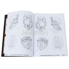 A4 Size 52 Pages Skull Skeleton Design Tattoo Reference Sketch Picture Book